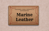 what is marine leather